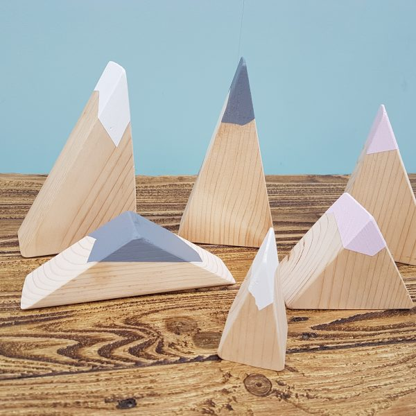 wooden mountains, small world, wooden blocks, toy mountains