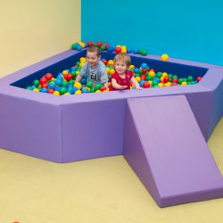 Large Corner Ball Pit 2m – Purple