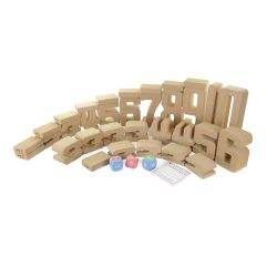 GIANT SOFT NUMBER LEARNING BLOCK SET