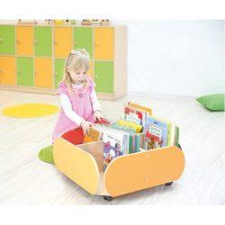 Mobile Floor Level Bookcase
