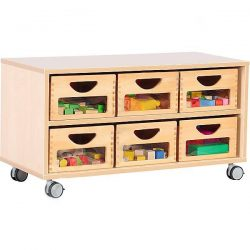 Toy Storage Unit with 6 Drawers