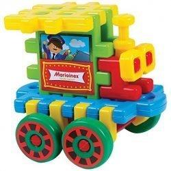 Large Marioinex Waffle Blocks – 18 pieces Locomotive