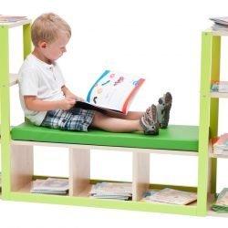 Bookshelf with Bench