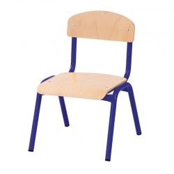 26cm Stackable Chairs with Metal Legs