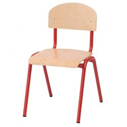 43cm Stackable Chairs with Metal Legs