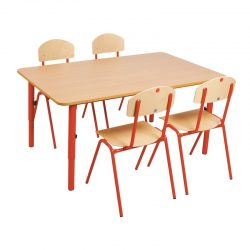 Wooden Table 59-76cm adjustable metal legs