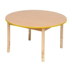 Height Adjustable Wooden Table – Round – Choice of colours