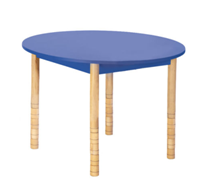 Round Wooden Table with Adjustable legs – BLUE