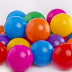 Plastic Balls x 500 – 7 Colour Mix
