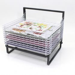 10 SHELF SPRING LOADED FLOOR DRYING RACK