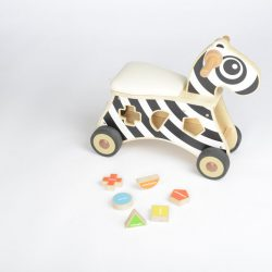 RIDE ON SHAPE SORTER ZEBRA