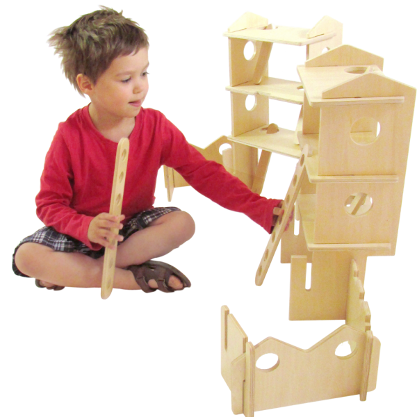 C Happy Architect Tower with child