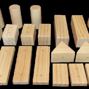 C ELS Magnetic Wooden Blocks Set