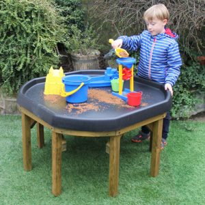 Outdoor wooden tuff tray