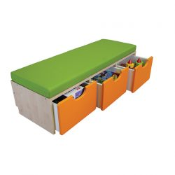 3 Cubby Seating Unit