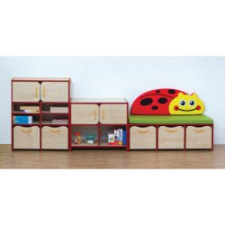 Nature Tall Storage Unit – Red Edging