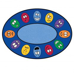 Expressions Round Learning Rug