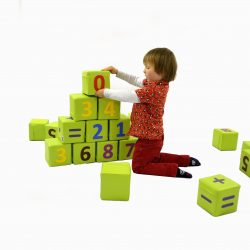 Soft Play Number Cubes