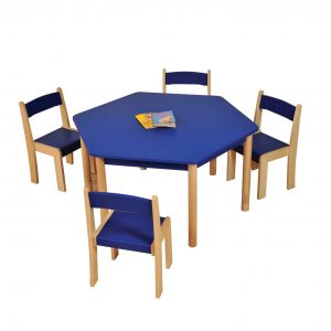 Blue HEX Table chairs HR