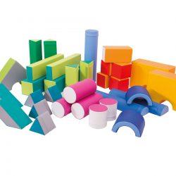 Set of small foam blocks