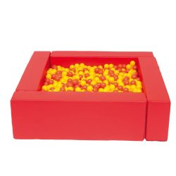 Square ball pit red