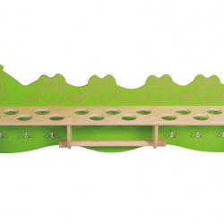 Bathroom shelf – Cup & Teeth (green)