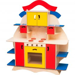 Kitchen set with cooker