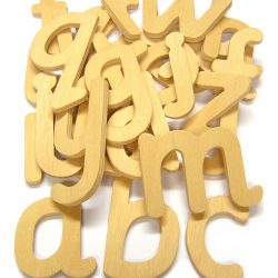 Lower case Wooden Letters, Set of 26