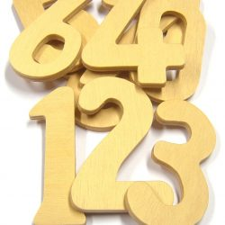 Wooden Numbers, Set of 10