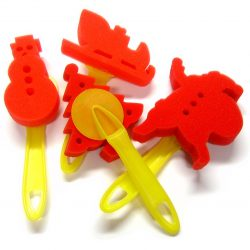 Christmas Sponge Dabbers, Set of 4