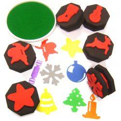 Christmas Stamps, Set of 6
