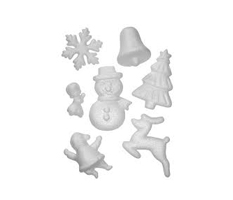 Polystyrene Christmas Shapes, Set of 35