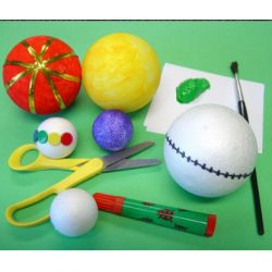 Polystyrene Balls Mix, Set of 75