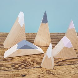 Wooden Mountains set of 6