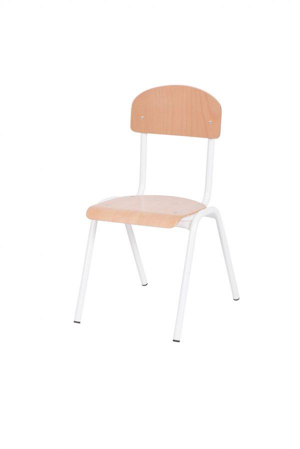 White chair, childrens chair, wooden chair, wooden childrens chair white