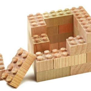 wooden lego, wooden duplo, mokulock