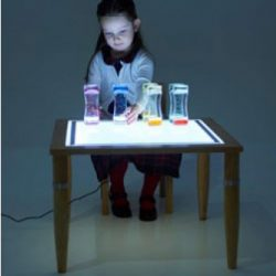 WOODEN LIGHT TABLE 600x600mm
