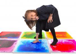 Liquid floor tiles, sensory floor tiles, liquid tiles, sensory mat