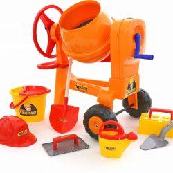Cement Mixer + 8 Pieces Worker Set