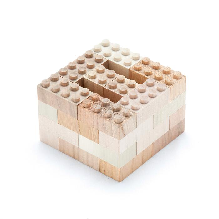 Wooden building bricks 34psc