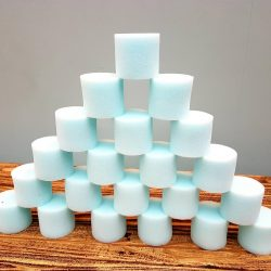 Small Blue Foam Cylinders – Set of 20