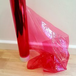 Red See-through Plastic Roll