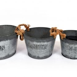 Metal Bucket Set