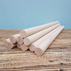 Short Wooden dowels/rods – Set of 10