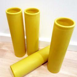 Large Plastic Yellow Tubes, 4pcs
