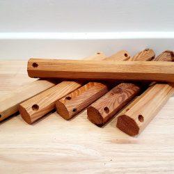 Wooden Octagon Sticks set of 6