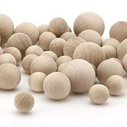 Wooden Balls 37mm pack of 10