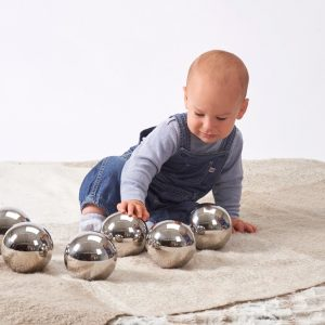 Mystery sensory balls, reflective mirror balls