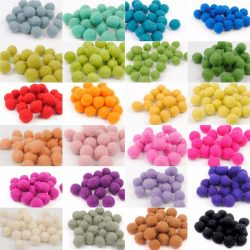 Wool Felt Balls 4cm pack of 10