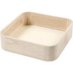 Trays, size 25×25 cm, H: 7 cm, Pine, 1pc